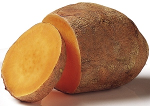 Ounce for ounce, sweet potatoes pack more vitamin A and beta-carotene than carrots and can help you peel off the pounds. A 4-oz sweet potato contains 4 g fiber, and you digest them more slowly than white potatoes so you're satiated for hours.